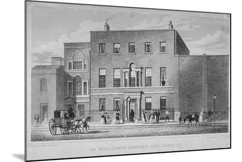 View of Dr Williams's Library in Redcross Street, City of London, 1829-J Starling-Mounted Giclee Print