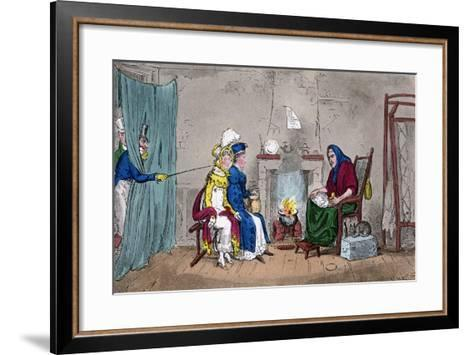 Tom and Jerry, Catching Kate and Sue on the Fly, Having their Fortunes Told, 19th Century-Isaac Robert Cruikshank-Framed Art Print
