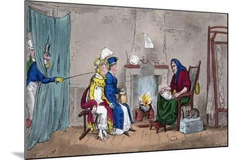 Tom and Jerry, Catching Kate and Sue on the Fly, Having their Fortunes Told, 19th Century-Isaac Robert Cruikshank-Mounted Giclee Print