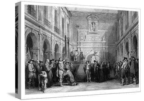 The Execution of Montmorenci, Court of the Hotel De Ville, Toulouse, 1632--Stretched Canvas Print