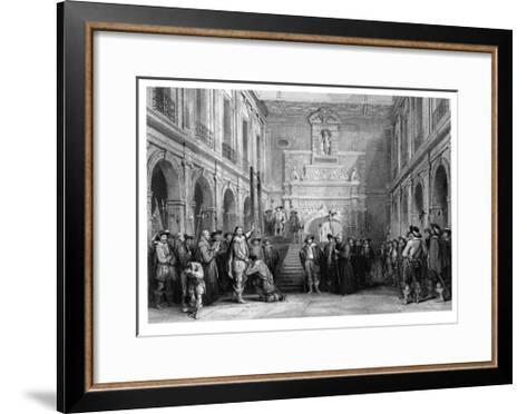 The Execution of Montmorenci, Court of the Hotel De Ville, Toulouse, 1632--Framed Art Print