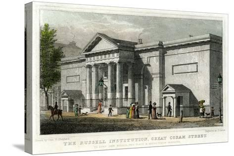 The Russell Institution, Great Coram Street, Bloomsbury, London, 1828-J Carter-Stretched Canvas Print