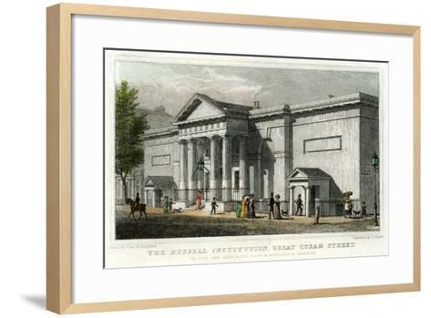 The Russell Institution, Great Coram Street, Bloomsbury, London, 1828-J Carter-Framed Art Print