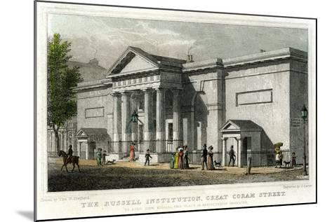 The Russell Institution, Great Coram Street, Bloomsbury, London, 1828-J Carter-Mounted Giclee Print