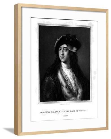 Horace Walpole, 4th Earl of Orford, Politician, Writer, Architectural Innovator-J Cochran-Framed Art Print
