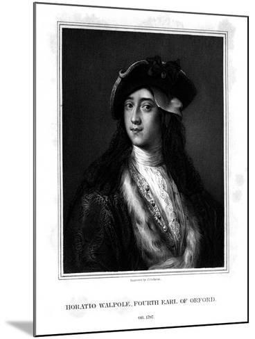 Horace Walpole, 4th Earl of Orford, Politician, Writer, Architectural Innovator-J Cochran-Mounted Giclee Print