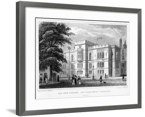 The New Library and Parliament Chambers, Temple, London, 1829-J Hinchcliff-Framed Art Print