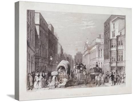 Leadenhall Street, London, C1837-J Hopkins-Stretched Canvas Print
