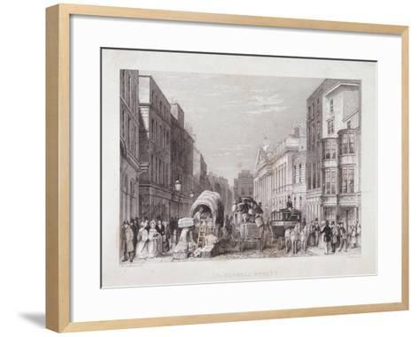 Leadenhall Street, London, C1837-J Hopkins-Framed Art Print