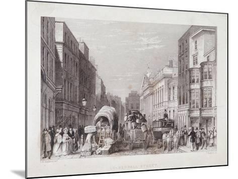 Leadenhall Street, London, C1837-J Hopkins-Mounted Giclee Print