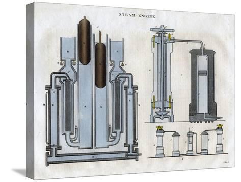 Isambard Kingdom Brunel's Steam Engine, 1827-J Pass-Stretched Canvas Print