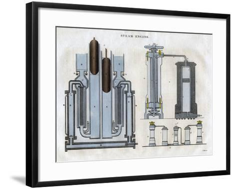Isambard Kingdom Brunel's Steam Engine, 1827-J Pass-Framed Art Print