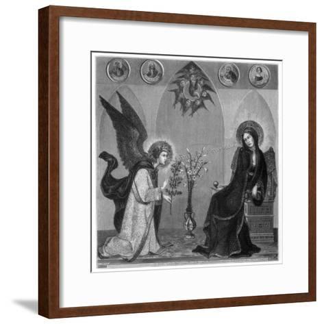 The Annunciation, 1333-J Petot-Framed Art Print