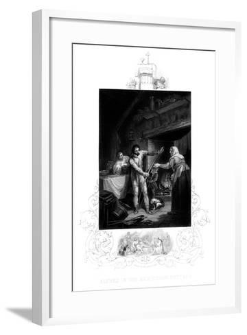 Alfred the Great in the Neatherd's Cottage, 9th Century Ad-J Rogers-Framed Art Print