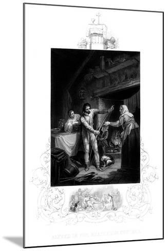 Alfred the Great in the Neatherd's Cottage, 9th Century Ad-J Rogers-Mounted Giclee Print