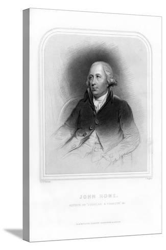 John Home, Scottish Poet and Dramatist-J Rogers-Stretched Canvas Print