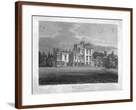 Holywell House, Hertfordshire, 1806-J Storer-Framed Art Print