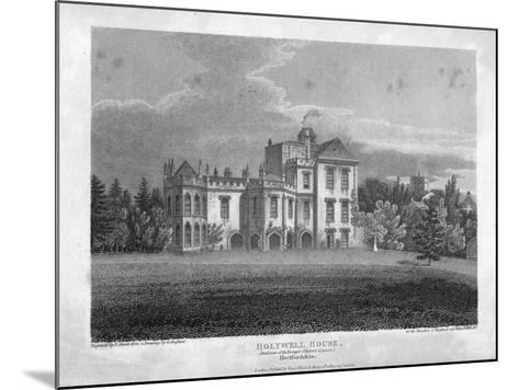 Holywell House, Hertfordshire, 1806-J Storer-Mounted Giclee Print