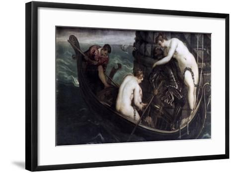The Deliverance of Arsinoe, after 1560-1594-Jacopo Tintoretto-Framed Art Print