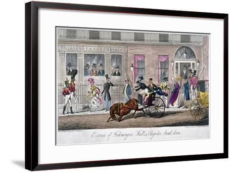 Exterior of Fishmongers Hall, a Regular Break Down, 1824-Isaac Robert Cruikshank-Framed Art Print