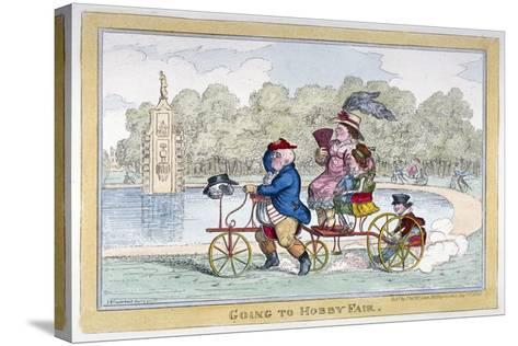 Going to Hobby Fair, 1835-Isaac Robert Cruikshank-Stretched Canvas Print
