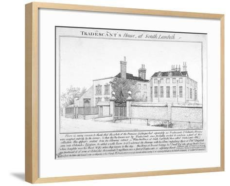 Tradescant's House, South Lambeth, London, 1798-J Caulfield-Framed Art Print