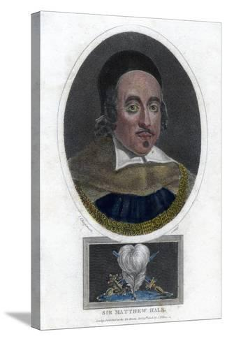 Sir Matthew Hale, 17th Century Lord Chief Justice of England-J Chapman-Stretched Canvas Print