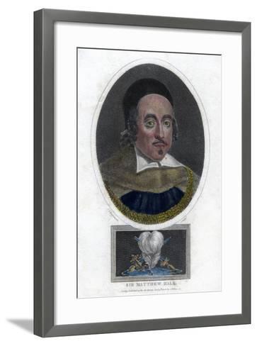 Sir Matthew Hale, 17th Century Lord Chief Justice of England-J Chapman-Framed Art Print