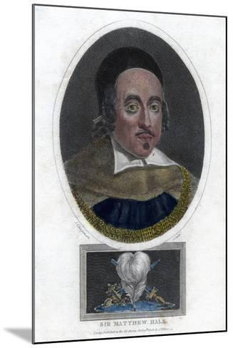 Sir Matthew Hale, 17th Century Lord Chief Justice of England-J Chapman-Mounted Giclee Print