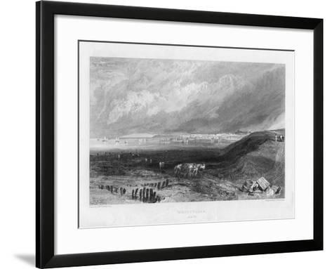 Whitstable, Kent, 19th Century-J Horsburgh-Framed Art Print