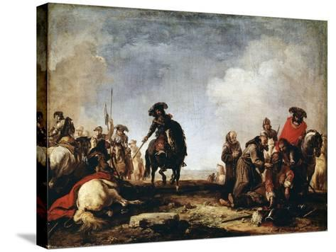 After a Battle, 17th Century-Jacques Courtois-Stretched Canvas Print