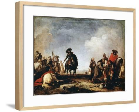 After a Battle, 17th Century-Jacques Courtois-Framed Art Print
