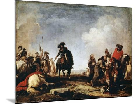 After a Battle, 17th Century-Jacques Courtois-Mounted Giclee Print