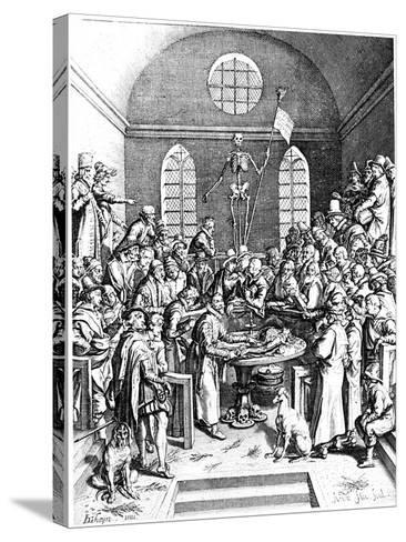 Late 16th Century Anatomy Theatre, Jacques De Gehyn the Elder, 1633-Jacques de Gehyn the Elder-Stretched Canvas Print