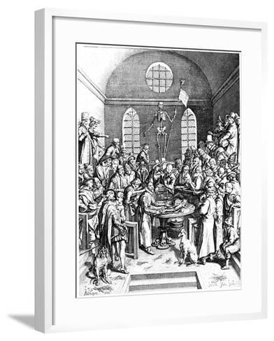 Late 16th Century Anatomy Theatre, Jacques De Gehyn the Elder, 1633-Jacques de Gehyn the Elder-Framed Art Print