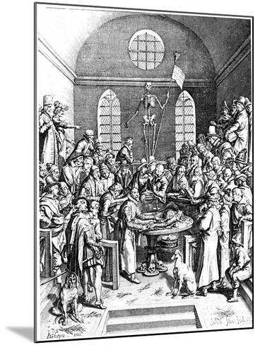 Late 16th Century Anatomy Theatre, Jacques De Gehyn the Elder, 1633-Jacques de Gehyn the Elder-Mounted Giclee Print