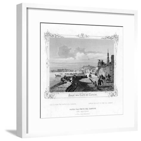 Naples from the Carmine Castle, Italy, 19th Century-J Poppel-Framed Art Print