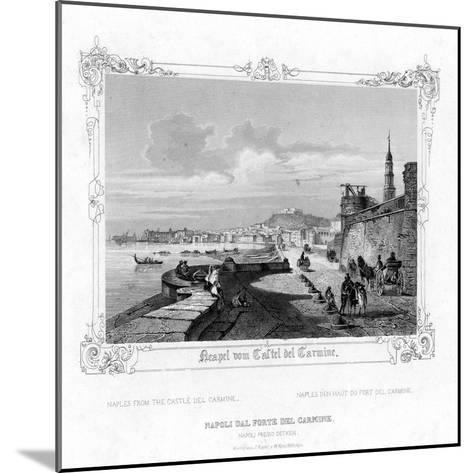 Naples from the Carmine Castle, Italy, 19th Century-J Poppel-Mounted Giclee Print