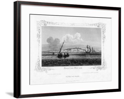 Naples from the Sea, 19th Century-J Poppel-Framed Art Print