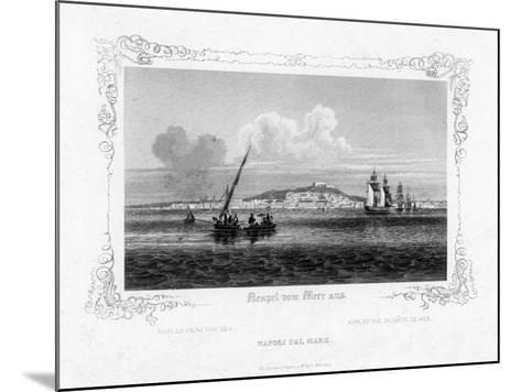 Naples from the Sea, 19th Century-J Poppel-Mounted Giclee Print