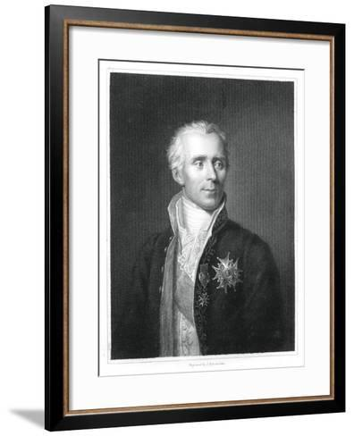 Pierre Simon Laplace, French Mathematician and Astronomer-J Posselwhite-Framed Art Print