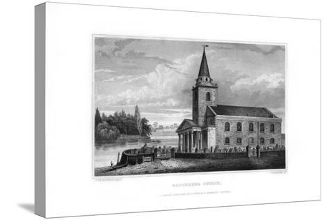 Battersea Church, Battersea, London, 1829-J Rogers-Stretched Canvas Print