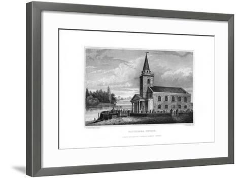 Battersea Church, Battersea, London, 1829-J Rogers-Framed Art Print