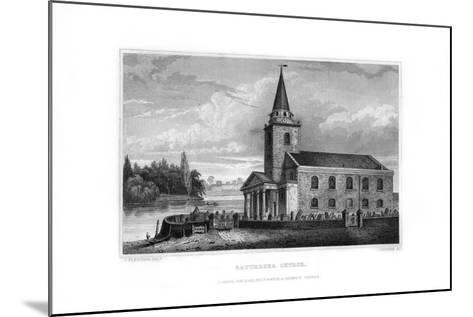 Battersea Church, Battersea, London, 1829-J Rogers-Mounted Giclee Print