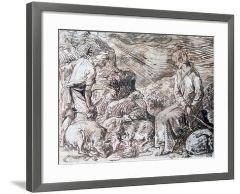 Hippocrate and Démocrite, C1584-1629-Jacques de Gheyn-Framed Art Print