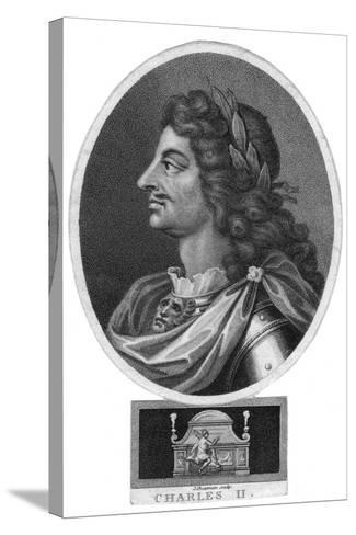 Charles II, King of England, Scotland and Ireland-J Chapman-Stretched Canvas Print