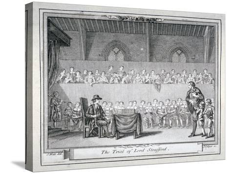 The Trial of Thomas Wentworth, Earl of Strafford, Westminster Hall, London, 1641-J Collyer-Stretched Canvas Print