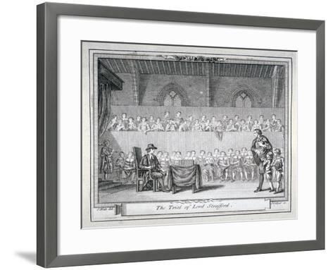 The Trial of Thomas Wentworth, Earl of Strafford, Westminster Hall, London, 1641-J Collyer-Framed Art Print