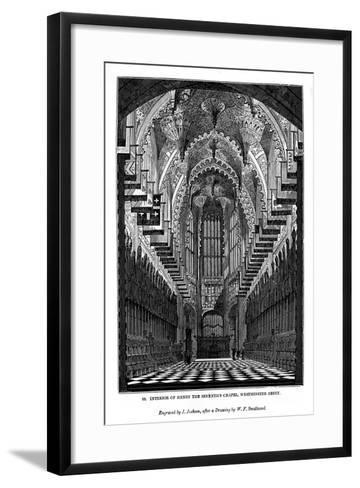 Interior of Henry VII Chapel, Westminster Abbey, 1843-J Jackson-Framed Art Print