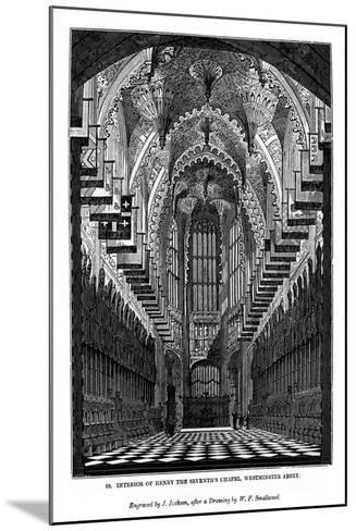 Interior of Henry VII Chapel, Westminster Abbey, 1843-J Jackson-Mounted Giclee Print